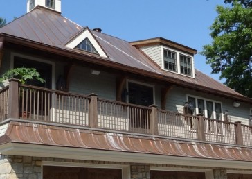 Beck Residence Copper Standing Seam Metal Roof