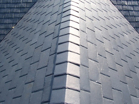 Residential synthetic slate roof